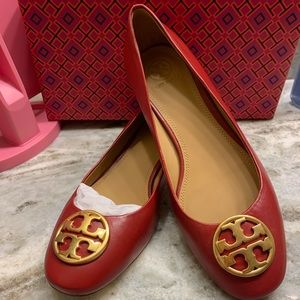 Tory Burch Chelsea Heeled Ballet Flat Red Stone